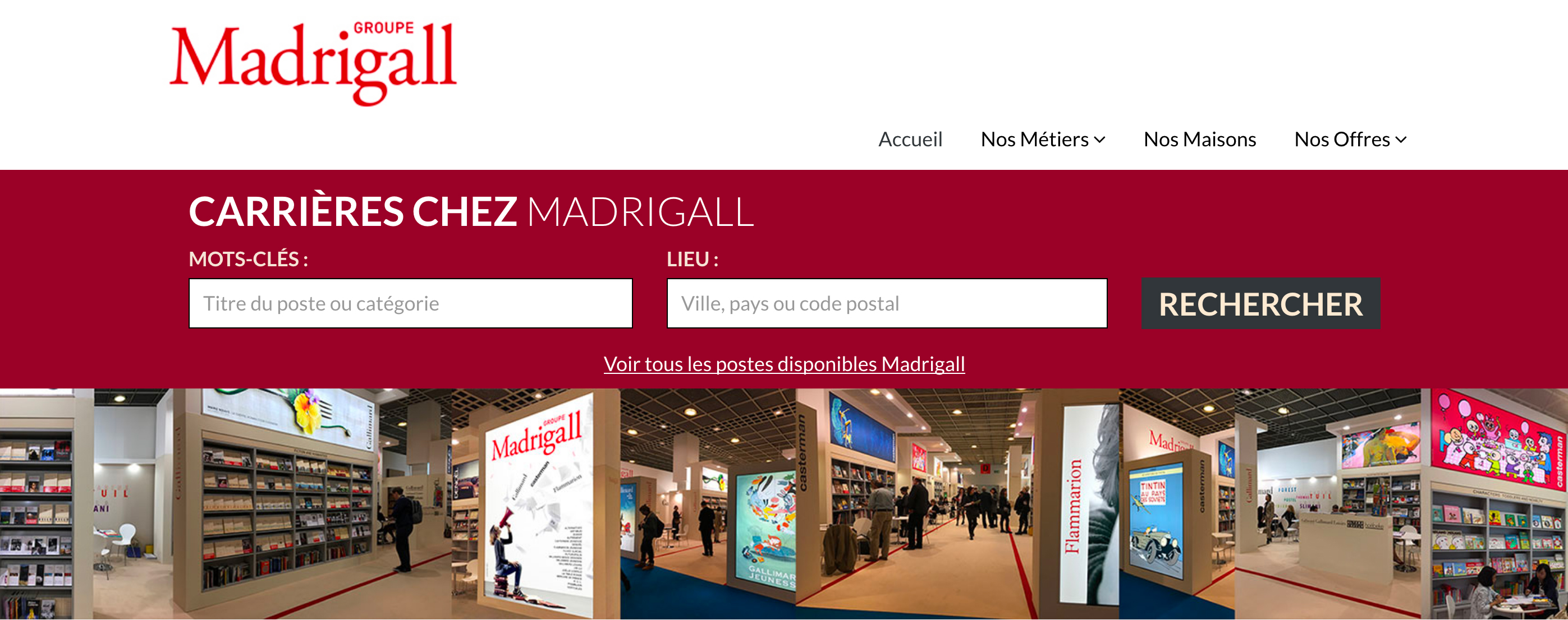 Site recrutement Madrigall